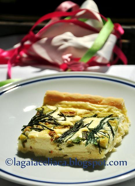 torta ricotta e zucchine - fetta