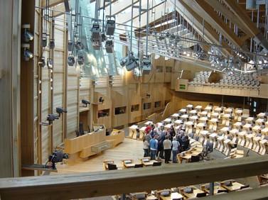 Scottish Parliament Debating Chamber by Jamieli GNU Free Documentation