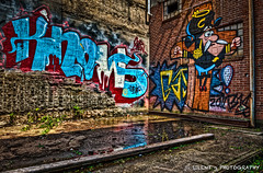 Who Knows (Silent G Photography) Tags: streetart photography graffiti kentucky ky explore adobe louisville hdr highdynamicrange captaincrunch lightroom photomatix explored colorefex niksoftware highdynamicrangephotography nikond7000 nikkor1635mmf4 markgvazdinskas silentgphotography