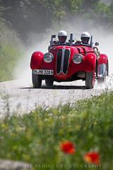 ..polvere... d'epoca... (doby1958) Tags: verde campagna toscana velocit corsa automobili gara millemiglia