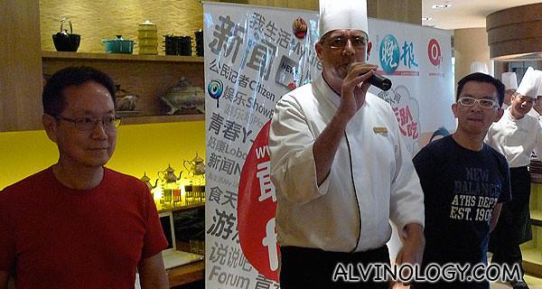 Head chef greeting everyone