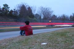 friend minjae (ari 274) Tags: light red grass car by long exposure sitting peaceful sit passing minjae