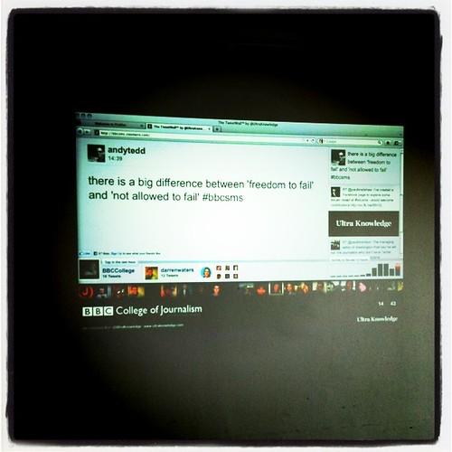 Social media Wall of #BBCSMS