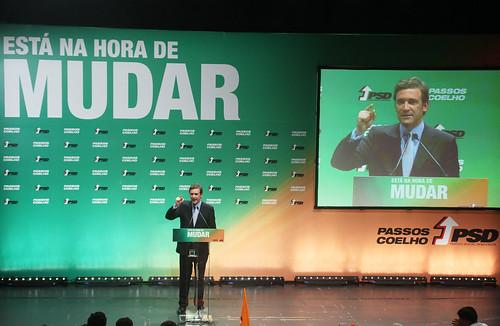 Pedro Passos Coelho Comicío em Almada