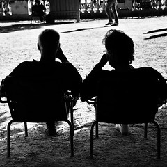 Togetherness (fifichat1 - BOYCOTT) Tags: shadow urban blackandwhite bw man paris france silhouette evening couple candid streetphotography highcontrast nb rest grayscale contrejour greyscale jardinduluxembourg copyright squarepicture womann allrightsreserved 6tharrondissement classicbw formatcarr squarephotography copyrightallrightsreserved togertherness tousdroitsrservs nikond300 absoluteblackandwhite lightroomps fifichat1