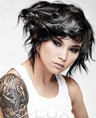 Swept Aside (julia.fae) Tags: tattoo ink hair photography kay makeup molly octopus wifebeater lunaticfringe janeiredale jakethompson juliafae