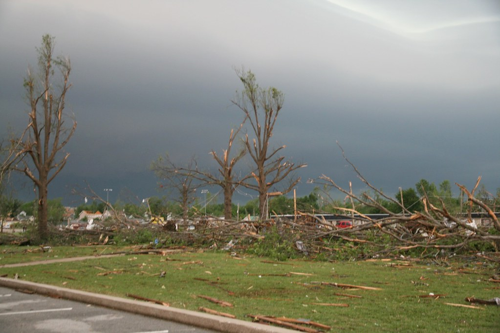 Tornado damage in Joplin, Mo. Photo by KOMUnews via Flickr