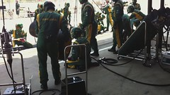 Pit stop 3 for Jarno (m78kem) Tags: green yellow canon team lotus wheels fast f1 pit racing stop trulli tyres jarno eos50d