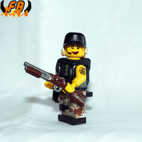 Custom minifig Modern Warrior - Close Combat Quarters - 2