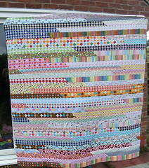 Remix Jelly Roll Race Quilt top