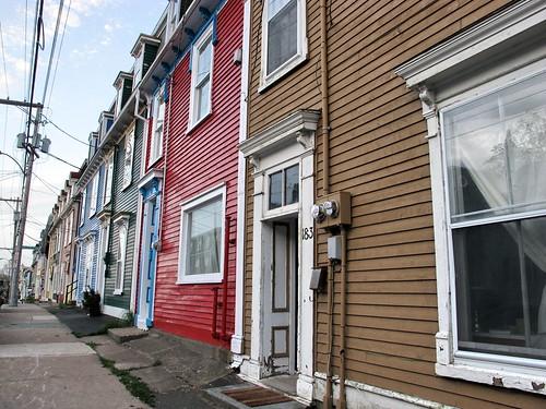 Coloured row houses