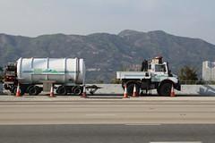 Unimog truck and a firefighting water tanker (Marcus Wong from Geelong) Tags: hongkong motorway freeway tollway lantaulink