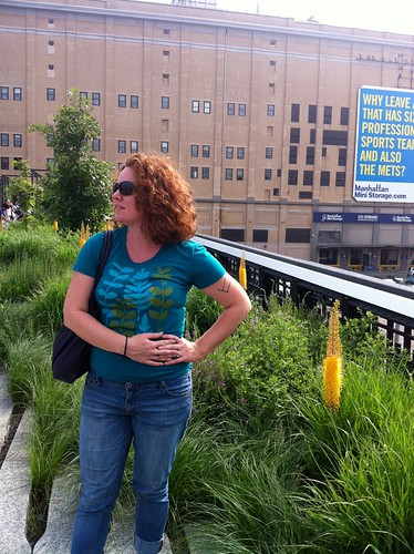 Colleen on high line