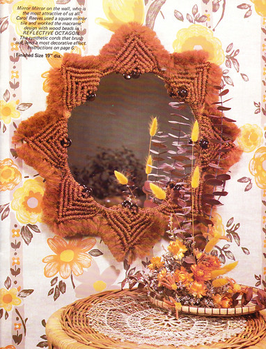 Reflective Octagon Accenting With Macrame 1979