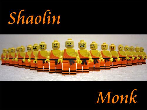 Custom minifig 18 Shaolin Monks
