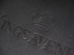 Kings Avenue Tattoo Black on Black Letterpress (dolcepress) Tags: black design blind custom letterpress businesscard giftcertificate ecru metallicgold lettra edgecolor edgecoloring dolcepress 10envelope 220lb kingsavenuetattoo stringandbutton