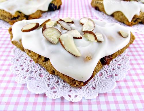 White Chocolate Cherry Almond Sour Cream Scones