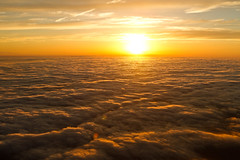 Sunset at 40,000 feet. (absencesix) Tags: sunset sky usa nature colors weather june clouds flying iso400 aviation events airplanes flight dramatic noflash transportation airline someplace somewhere lightandshadow ef2470mmf28lusm 2010 goldenlight warmcolors 27mm shotthroughawindow clouddeck highaltitudeflying microsoftevents camera:make=canon exif:make=canon exif:iso_speed=400 exif:focal_length=27mm canoneos7d activityaction apertureprioritymode hasmetastyletag selfrating4stars 1640secatf56 geo:countrys=usa exif:lens=ef2470mmf28lusm camera:model=canoneos7d exif:model=canoneos7d june112010 exif:aperture=56 subjectdistance667m geo:state=somewhere shotfrominaplane teched2010neworleans0605201006112010 geo:city=someplace someplacesomewhereusa