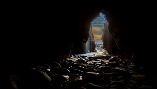 Caves at Plemont bay, Jersey.