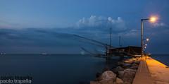 Porto Garibaldi (paolotrapella) Tags: trabucco porto garibaldi reti mare acqua lunga esposizione long exposure