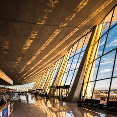 Washington Dulles Airport (Chimay Bleue) Tags: iad dulles washington dc airport eero saarinen architecture architect design interior sunrise sunset light shadow brutalism brutalist