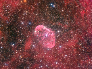 The Crescent Nebula - the brain