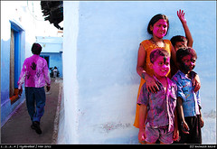 one...two...three...four! (AnimeshHazra) Tags: people colors kids hyderabad holi oldcity