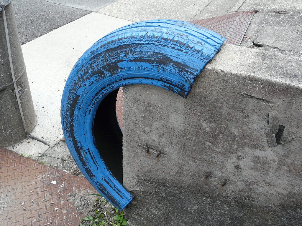Blue Tyre Bumpers
