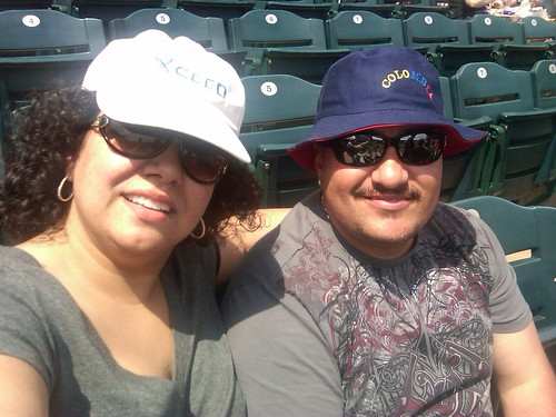 Me + sweetie @ baseball game