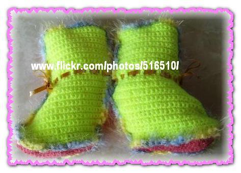 Crochet boots.