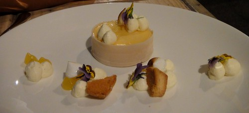LEMON 'LIQUID' TART SESAME, LEMON PASSIONFRUIT JUICEHare and Grace, Melbourne CBD