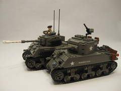 "Sherman Comparison- Firefly vs. M4A1 (""Rumrunner"") Tags: army ic tank lego wwii canadian american ww2 armour firefly m4 sherman worldwar2 allies 1c m4a1 brickmania"