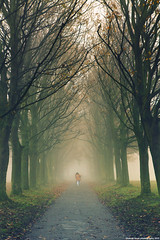 leaving [ EXPLORE ] (Hadi Al-Sinan Photography) Tags: park people photoshop canon project leaving day mark leeds foggy hyde ii 5d 201 hadi cs5 alsinan alssinan