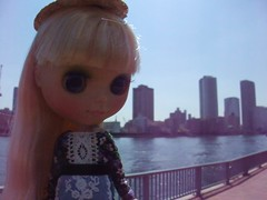 Watching Sumida river