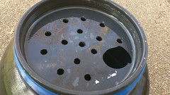 Holes in Rain Barrel Top