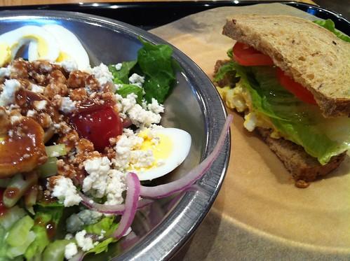 Half salad / Half sandwich from Cheffie's, Memphis, Tenn.