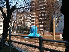 今朝のたこ公園。まだ工事中。(3/30) #ebisu