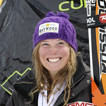 Sarah Freeman (BC Ski Team/Fernie Alpine Ski Team) wins overall silver and best junior in downhill at Canadian Championships, Nakiska 2011 PHOTO CREDIT: Michel Painchaud / S-Magazine