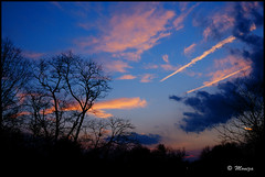 Symphony of Twilight (Moniza*) Tags: blue sunset sky clouds landscape twilight moniza