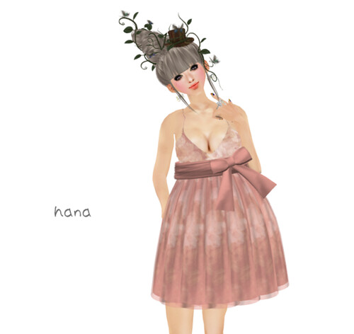 *evergreen*Spring pink dress(50L)