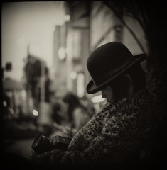 """Dead Man"" (TommyOshima) Tags: winter monochrome hat tokyo sunday efke50 leopard deadman greatwall  madeinchina"