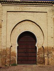 Maghreb doorway (jcm715) Tags: door wood city urban building brick stone design town northafrica path muslim entrance style mosque structure arabic doorway morocco arab bolt marrakech archway oriental islamic