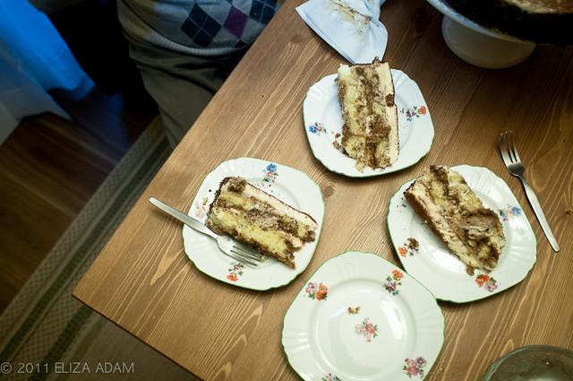tiramisu cake slices