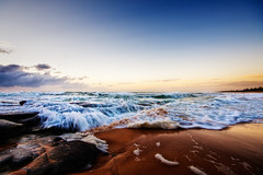 The Angry Sea (Matthew Post) Tags: ocean beach sunrise canon 350d waves australia queensland seq