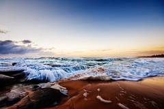 The Angry Sea (Matthew Post) Tags: ocean beach sunrise canon 350d waves australia queensland seq