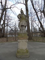 Ancient knight. Wilanow park