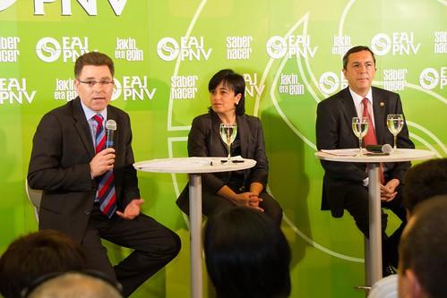Imanol Landa, Ana Madariaga y José Luis Bilbao