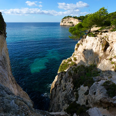 A backdrop of steep wooded limestone cliffs of Galdana (Bn) Tags: park santa wood blue trees sea summer pine marina walking geotagged island islands bay spain rocks walks paradise mediterranean kayak natural crystal hiking cove seagull paradiselost diving lagoon cliffs semi resort clear oxygen biospherereserve kayaking limestone backdrop coastline gorge hillside nudity topf100 idyllic shady surroundings circular menorca cala nesting secluded minorca clifftop balearic macarella galdana macarelleta balear 100faves holidaysvacanzeurlaub rurallocation naturistbeaches geomenorca geo:lon=3958133 geo:lat=39937673