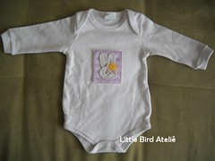 Body coelhinha (Little Bird Atelie) Tags: body flor beb menina coelhinha