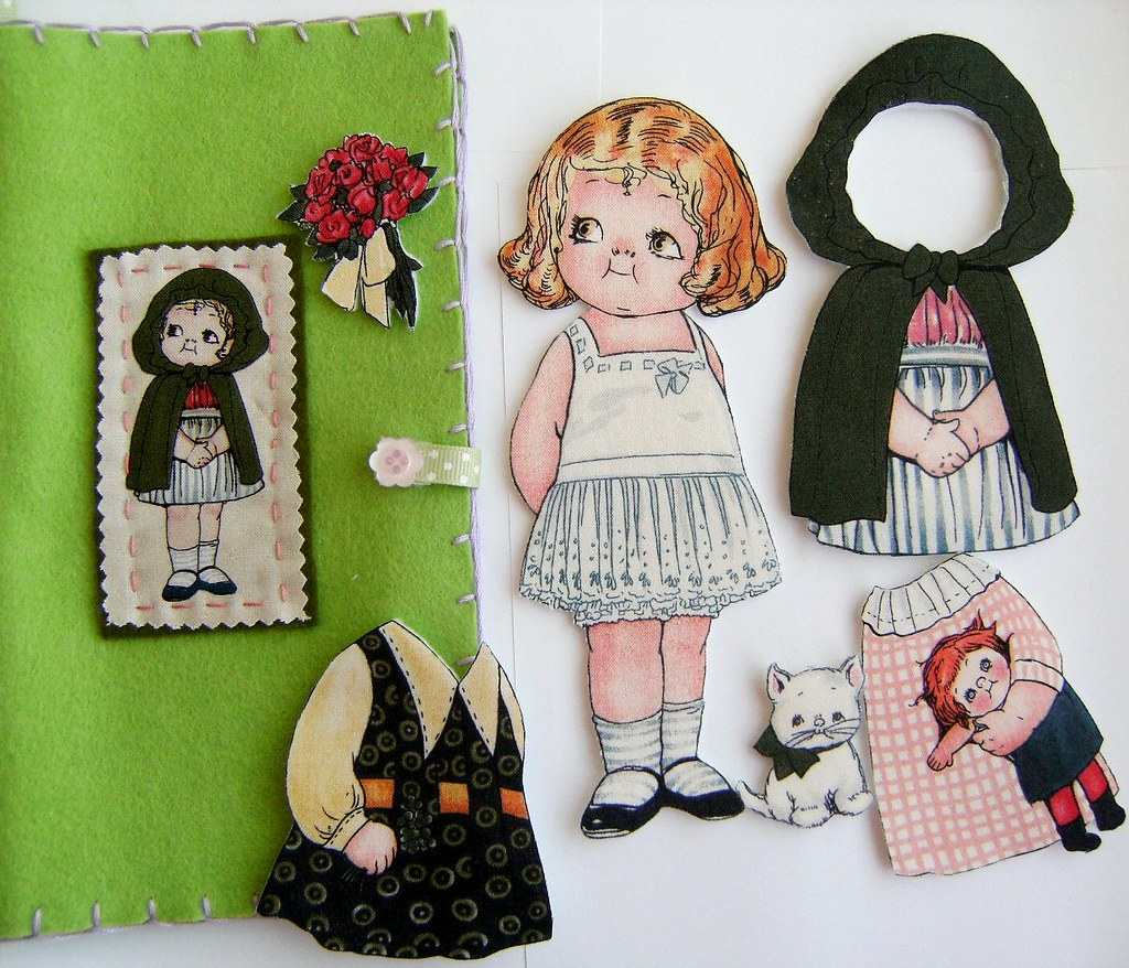 Fabric Paper Doll Gift Set - Ireland